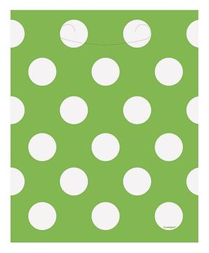 Party In A Box Unique Decorative Dots Loot Bag - Lime Green