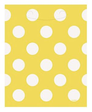 Party In A Box Unique Royal Dots Loot Bag - Sunflower Yellow