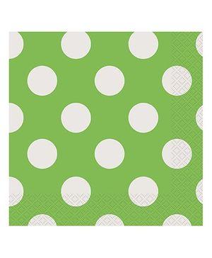 Party In A Box Unique Decorative Dots Paper Napkin - Lime Green