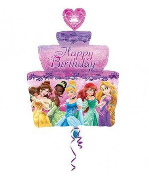 Disney Princess Birthday Cake Super Shape XL P38 Balloon - Multicolor