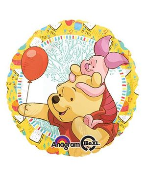 Disney Pooh And Piglet Celebration Standard Balloon - Multicolor