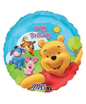Disney Pooh And Friends Sunny Birthday Balloon - Multicolor