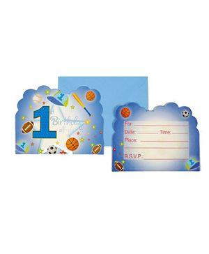 Funcart Sporty At 1 Theme Invitation Cards
