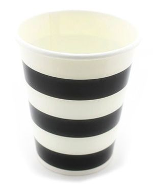 Funcart Black Sailor Stripe Party Beverage Cups - 9 Oz