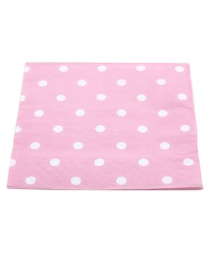 Funcart Party Paper Napkins Polka Dot Pink - Pack of 20