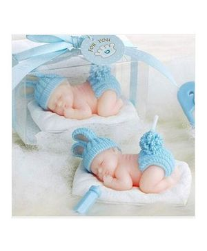Funcart Scented Candle Sleeping Baby - Blue