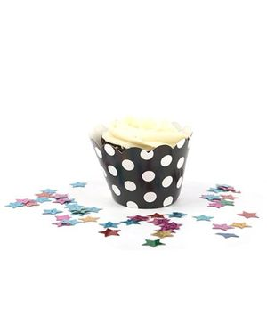 Funcart Cupcake Wrapper Polka Dots - Black