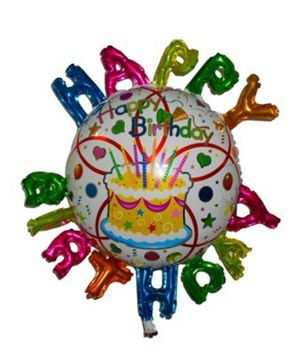 Funcart Happy Birthday Letters Foil Balloon