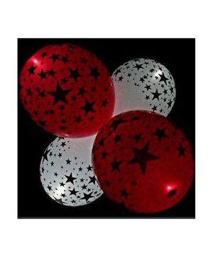 Funcart Star Print LED Balloon - Multi Color