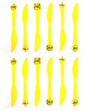 Funcart Colorful Balloons Theme Knife Yellow - Pack of 6