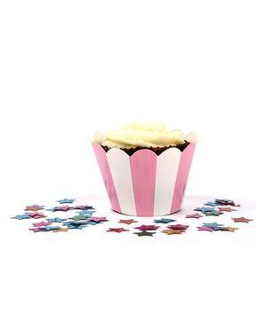 Funcart Cupcake Wrapper - Pink Stripe
