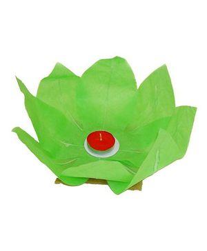 Funcart Lotus Floating Water Lantern With Tea Wax - Green