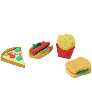 Snack Shape Eraser - Pack Of 4
