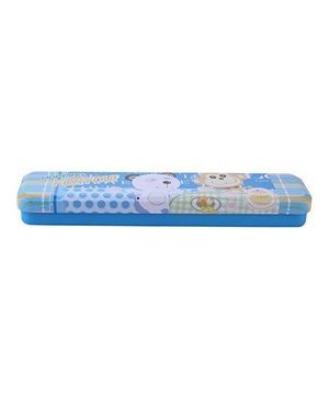 Pencil Box Hopping For You Print - Blue