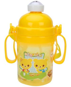 Water Bottle With Handles Yellow - 400 ml