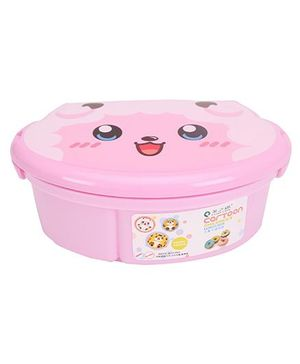 Lunch Box with Spoon Lamb Print - Pink