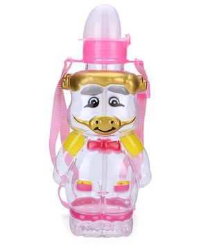 Sipper Water Bottle Piggy Shaped - Pink