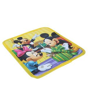 Multiutility Pouch Mickey And Minnie Mouse Print - Yellow