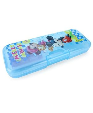 Disney Mickey Minnie Pencil Box - Blue