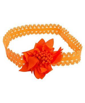 NeedyBee Headband With Flower - Orange