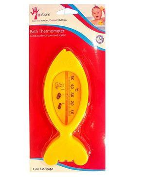 B-Safe Bath Thermometer Fish Shape - Yellow