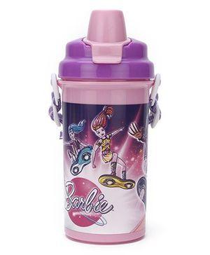 Barbie Space Print Water Bottle Purple - 500 ml
