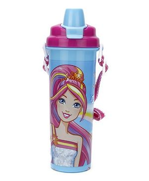 Barbie World Water Bottle Blue - 700 ml