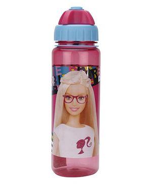 Barbie Sipper Water Bottle Pink - 550 ml