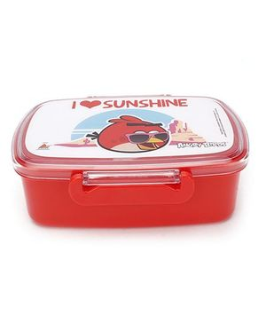 Angry Birds Lunch Box - Red And White