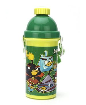 Angry Birds Sipper Water Bottle Green - 500 ml