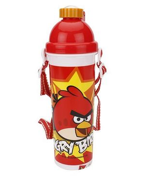 Angry Bird Push Button Water Bottle - 700ml