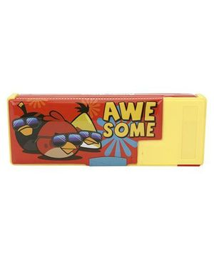 Angry Birds Pencil Box - Red And Yellow