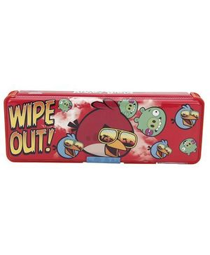 Angry Birds Wipe Out Pencil Box - Red