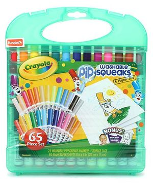Funskool Crayola Squeaks Markers Multicoloe - Set Of 65 Pieces