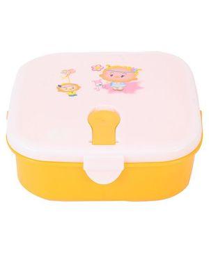 Lunch Box Cartoon Print - Yellow