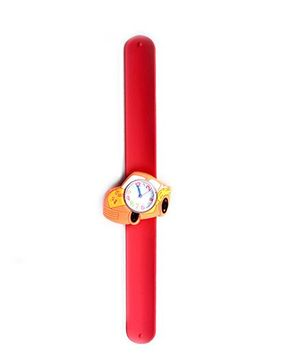 Slap Style Analog Watch Car Shape Dial - Red