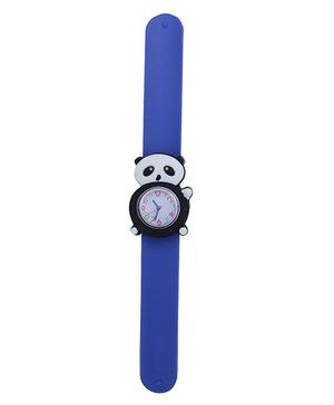 Slap Style Analog Watch Panda Design Dial - Blue