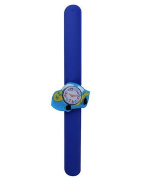 Slap Style Analog Watch Car Design Dial - Blue