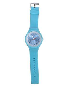Analogue Wrist Watch Round Shape Dial - Blue