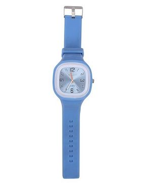 Analogue Wrist Watch Square Shape Dial - Blue