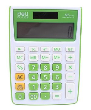Deli Electronic Calculator - White and Green