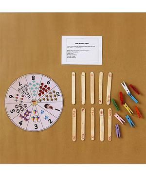 Boredom Busters Number Wheel Game - Multicolour