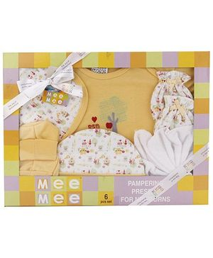 Mee Mee Clothing Gift Set Pack Of 6 MM 33088 - Yellow