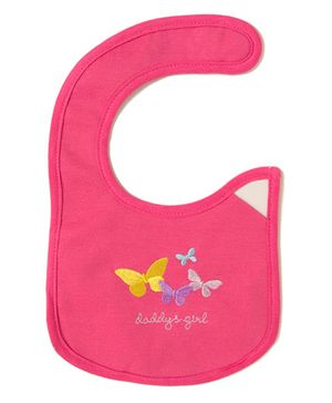 Little Hip Boutique Daddy's Girl Print Bib - Red