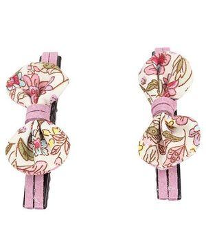 De Berry Bow Hair Clip - Multicolour