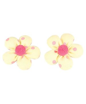 De Berry Flower Hair Clip - Yellow