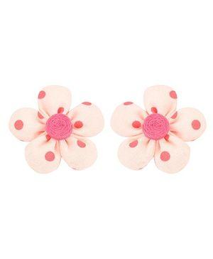De Berry Flower Hair Clip - Baby Pink