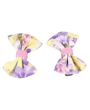 De Berry Bow Hair Clip - Purple