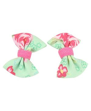 De Berry Bow Hair Clip - Green