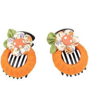 De Berry Flower Hair Clip - Orange